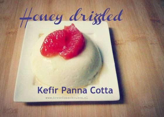 Honey drizzled kefir panna cotta